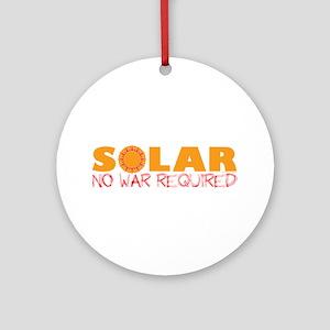 Solar Energy No War Ornament (Round)
