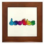 DEAFIE Rainbow Framed Tile