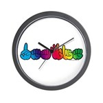 DEAFIE Rainbow Wall Clock