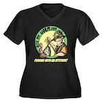 Bite My Worm Logo Women's Plus Size V-Neck Dark T-