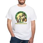 Bite My Worm Logo White T-Shirt