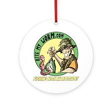 Bite My Worm Logo Ornament (Round)