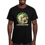 Bite My Worm Logo Men's Fitted T-Shirt (dark)