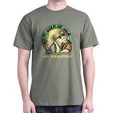 Bite My Worm Logo Dark T-Shirt