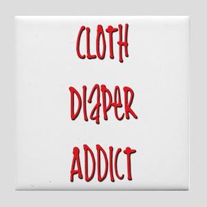 Cloth Diaper Addict Tile Coaster