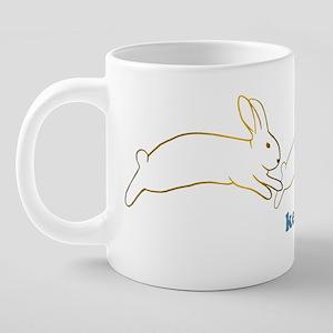 keep on hoppin copy 20 oz Ceramic Mega Mug