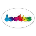 DEAFIE Rainbow Sticker (Oval 50 pk)