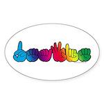DEAFIE Rainbow Sticker (Oval 10 pk)