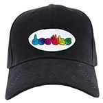 DEAFIE Rainbow Black Cap