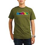 DEAFIE Rainbow Organic Men's T-Shirt (dark)