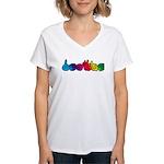 DEAFIE Rainbow Women's V-Neck T-Shirt