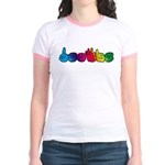 DEAFIE Rainbow Jr. Ringer T-Shirt