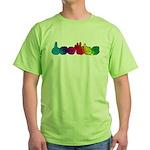 DEAFIE Rainbow Green T-Shirt