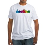 DEAFIE Rainbow Fitted T-Shirt