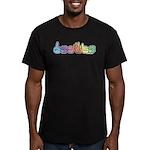 DEAFIE Pastel Men's Fitted T-Shirt (dark)