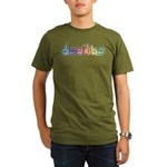 DEAFIE Pastel Organic Men's T-Shirt (dark)