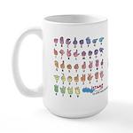DEAFIE Pastel Large Mug