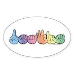 DEAFIE Pastel Sticker (Oval 10 pk)