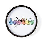 DEAFIE Pastel Wall Clock