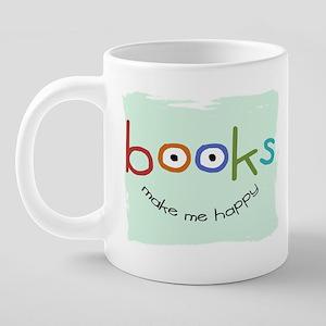bookHAPPY_mug 20 oz Ceramic Mega Mug