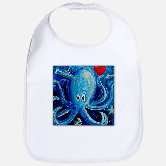 Octopus of Love Bib