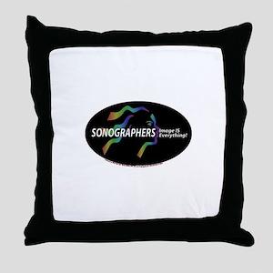Sonographer Image is everythi Throw Pillow