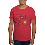 CS Lewis Soul-Body Quote Dark T-Shirt
