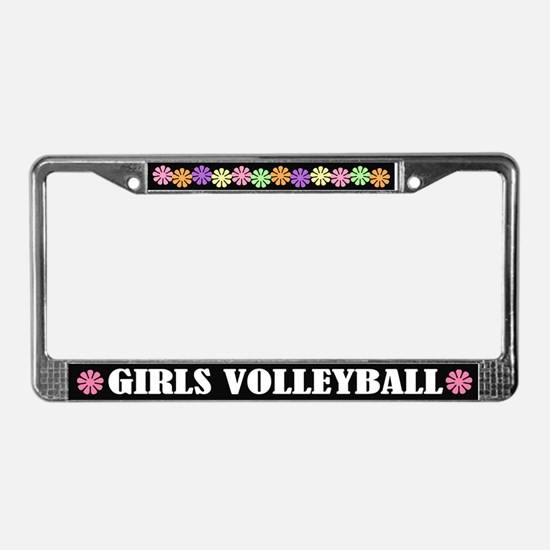 Girls Volleyball License Plate Frame