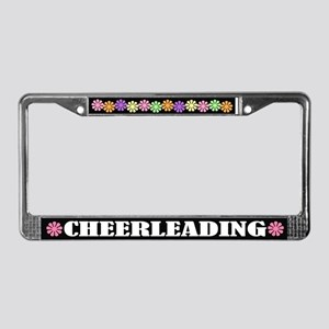 Pretty Cheerleading License Plate Frame