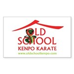 Old School Kenpo Karate Rectangle Sticker 50 pk)