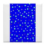 Polka Dot Party Tile Coaster /Trivet
