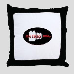MRI camera Throw Pillow