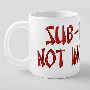 Sub-Titles 1 20 oz Ceramic Mega Mug