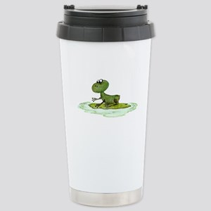 Green Frog Stainless Steel Travel Mug