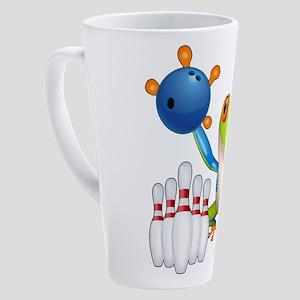 Bowling Tree Frog 17 oz Latte Mug