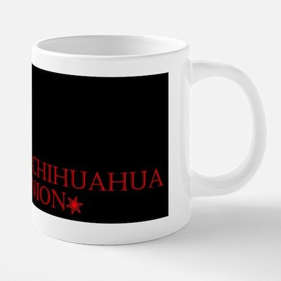 Black CHIHUAHUA UNION 20 oz Ceramic Mega Mug