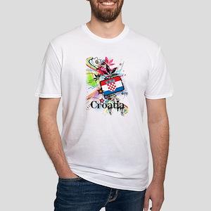 Flower Croatia Fitted T-Shirt