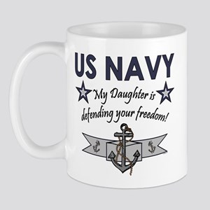 Navy - Daughter Defending Mug