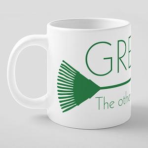 GreensFluffingBlackT 20 oz Ceramic Mega Mug