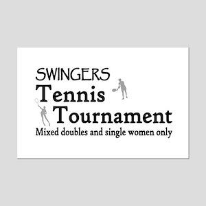 Swinger Tennis Mini Poster Print
