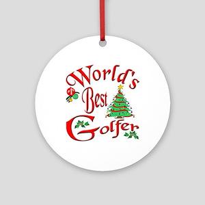 World's Best Golfer Ornament (Round)