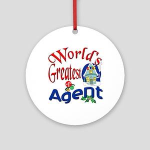 World's Greatest Agent Ornament (Round)