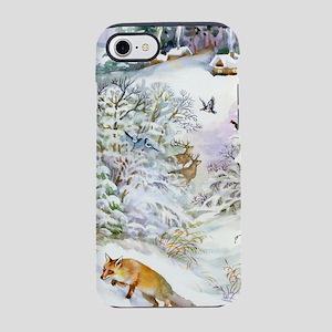 Watercolor Winter Scene iPhone 7 Tough Case