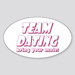 Dating- Pink Oval Sticker