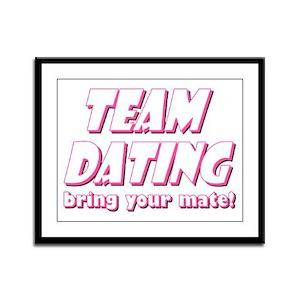 Dating- Pink Framed Panel Print