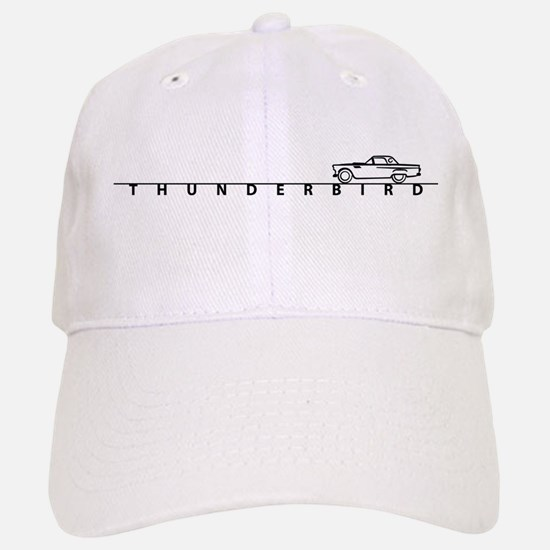 1955 T Bird Top on Script BLK Baseball Baseball Cap
