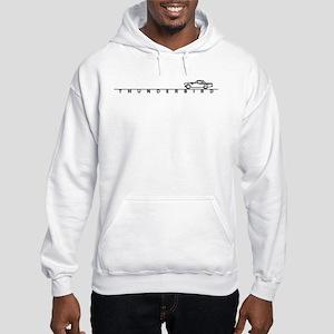 1955 T Bird Top on Script BLK Hooded Sweatshirt