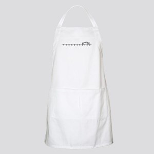 1955 T Bird Top on Script BLK BBQ Apron