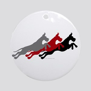 Great Dane Jumpers MultiColor Ornament (Round)