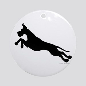 Great Dane Jumpers Black Ornament (Round)